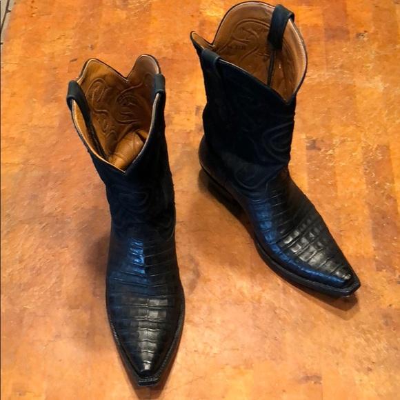 ae8db07c136 Black Jack Boots Alligator (9.5)